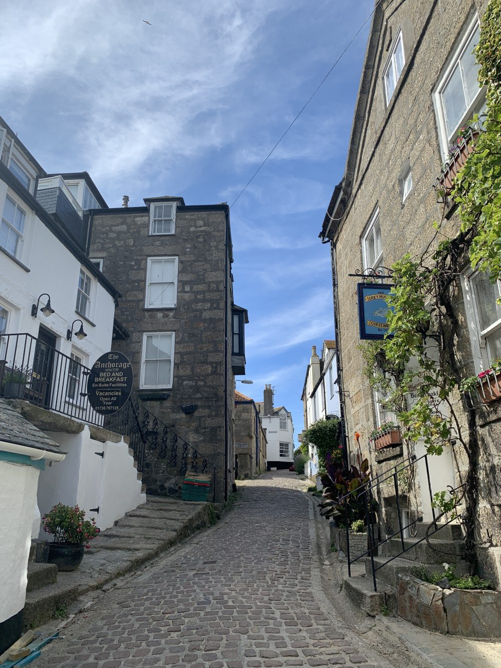 St Ives streets in Cornwall