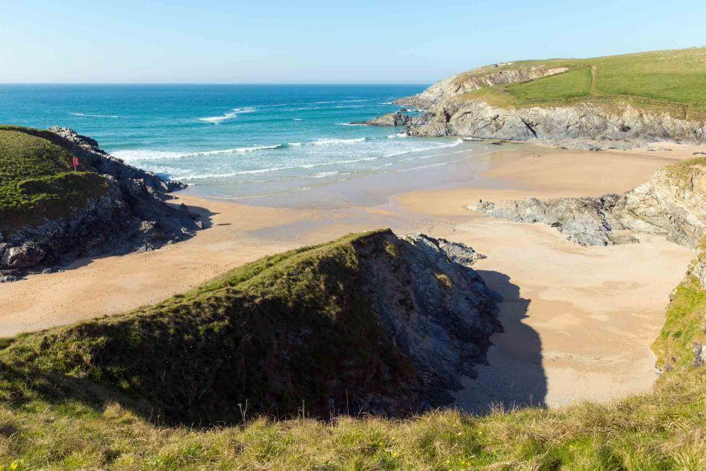 The dazzling beach at Porth Joke in Cornwall