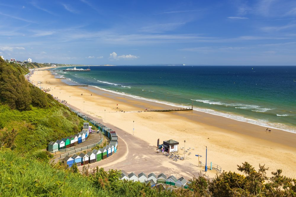 Bournemouth beach, pier, sea and sand
