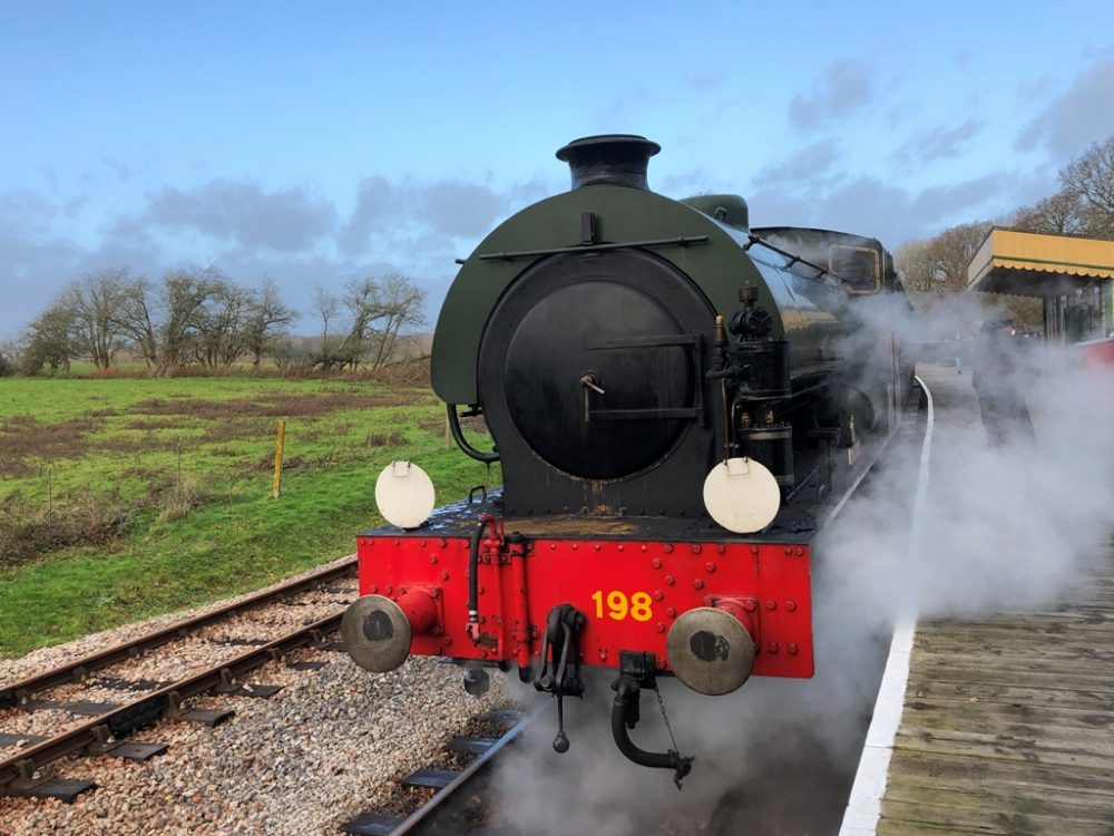 The steam railway on the Isle of Wight