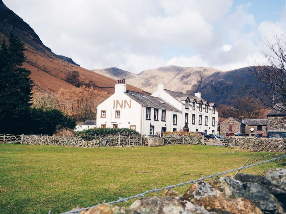 The cosy Wasdale Head Inn in the Lake District