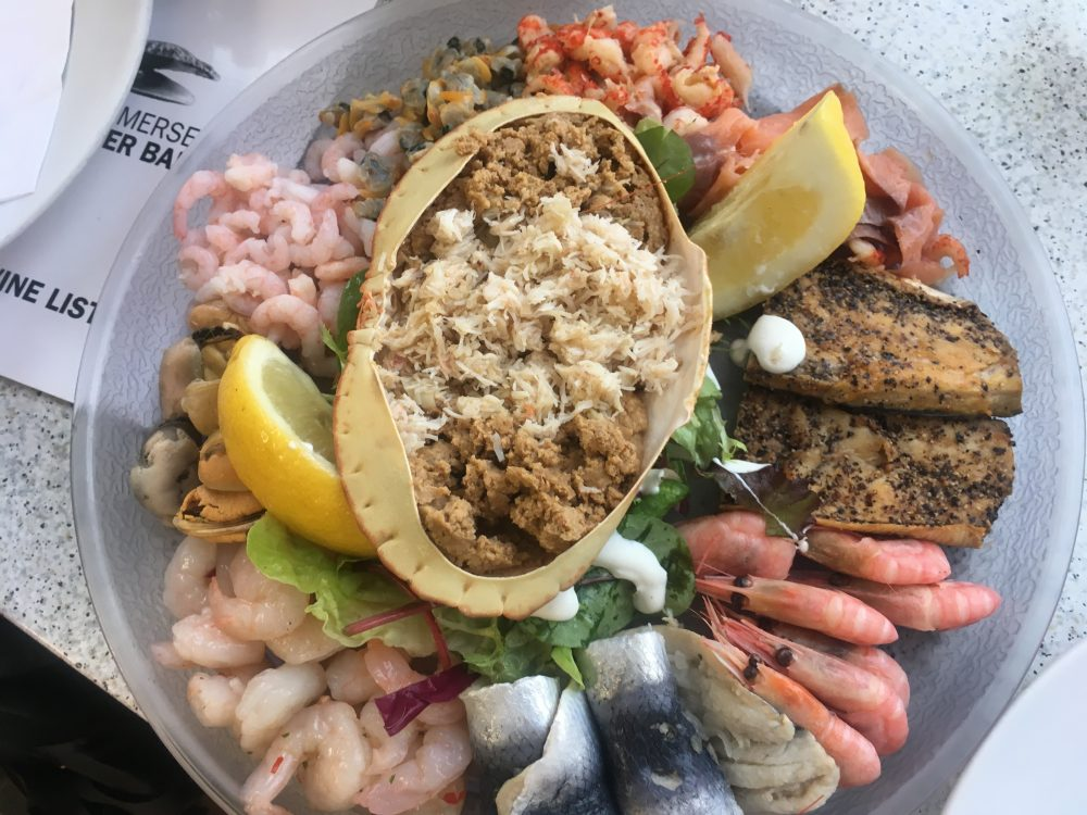 Delicious seafood platter in Mersea Island
