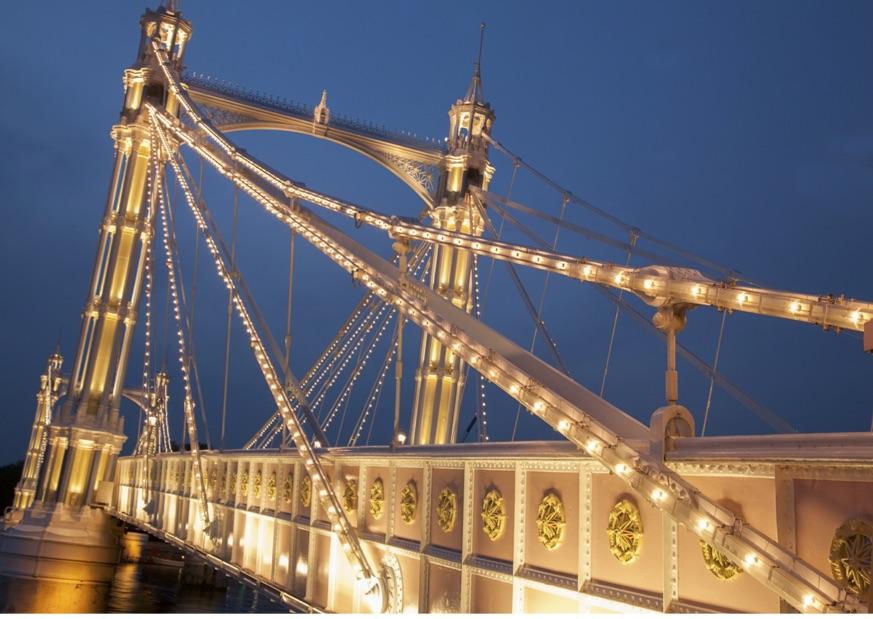 Albert Bridge in Chelsea