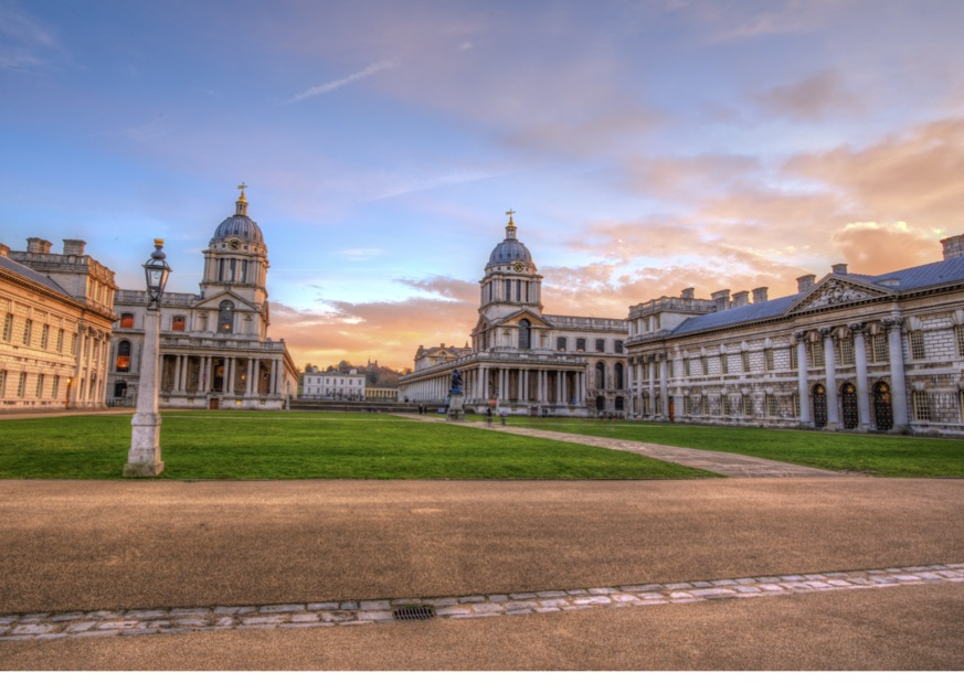 Sunset over the Royal Naval College