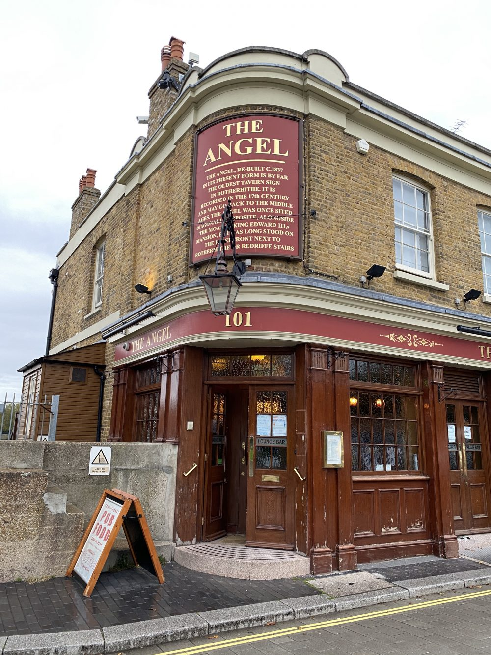 The Angel pub in Rotherhithe