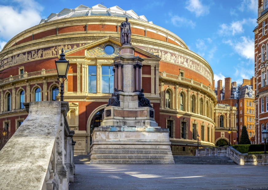The beautiful exterior of the Royal Albert Hall