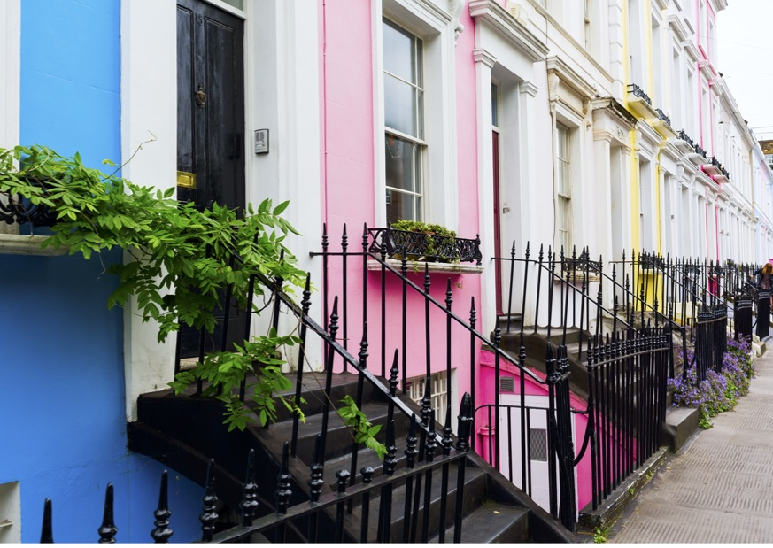 The colourful streets of Notting Hill