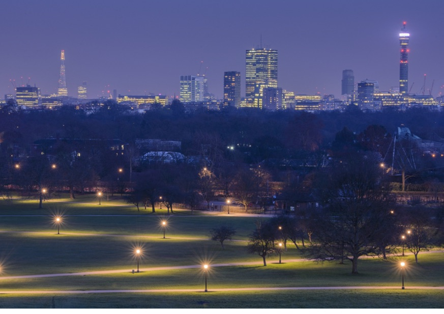 The incredible nighttime view from Primrose Hill