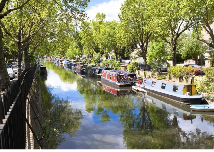 Regents Canal towards Little Venice