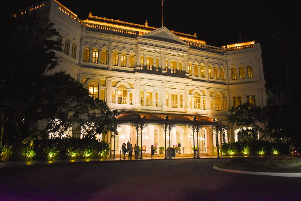 The iconic Raffles Hotel in Singapore