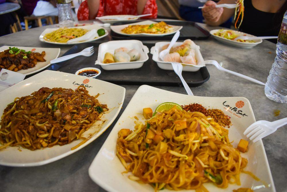 Eating at Lau Pa Sat