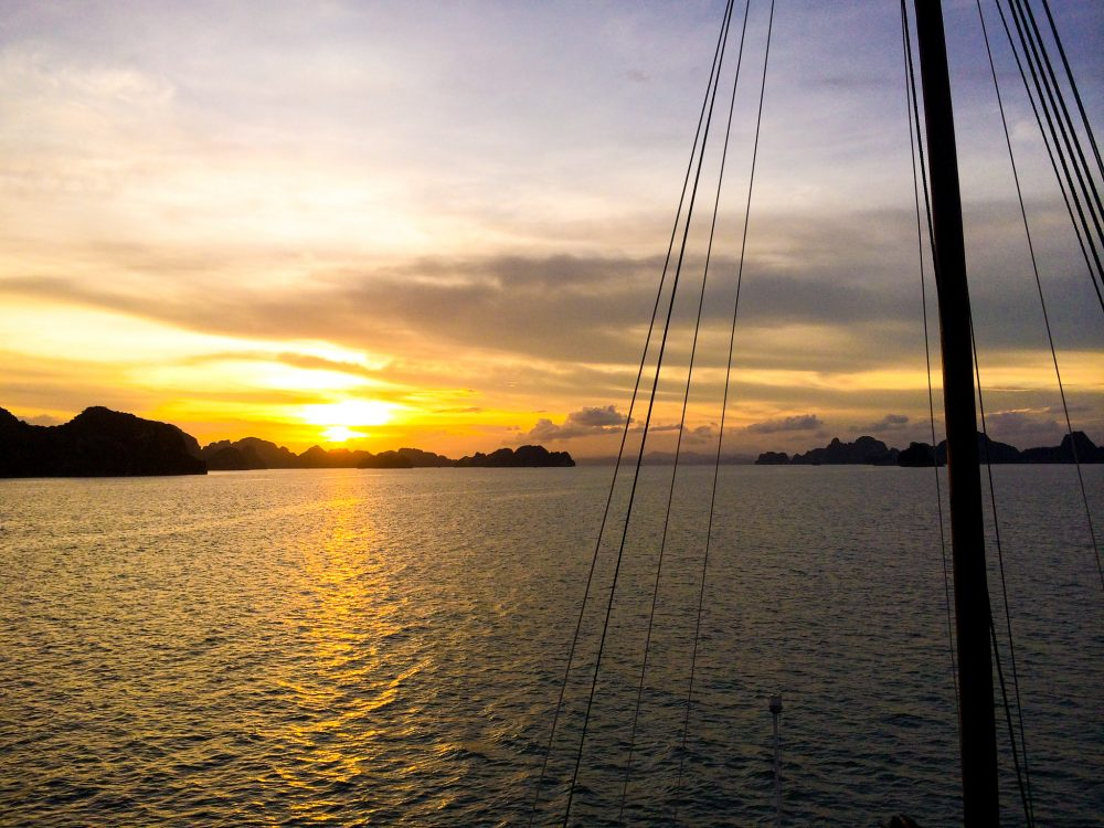 Sailing in Halong Bay
