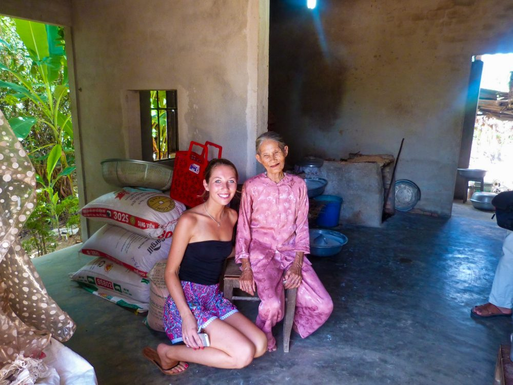 Meeting one of the local women in Hoi An