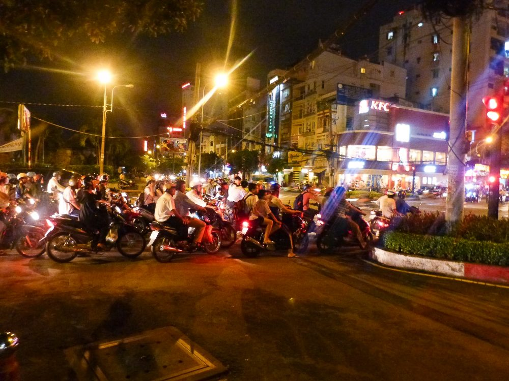 Some of the crazy traffic in Ho Chi Minh city