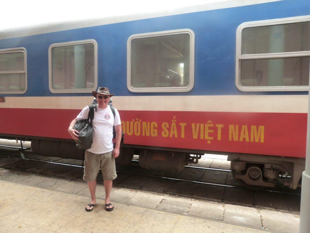 Taking the train in Vietnam