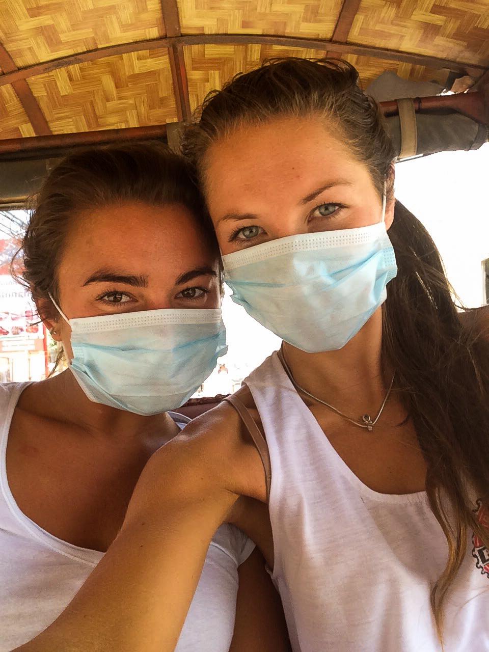 Travelling around Phnom Penh by tuk tuk