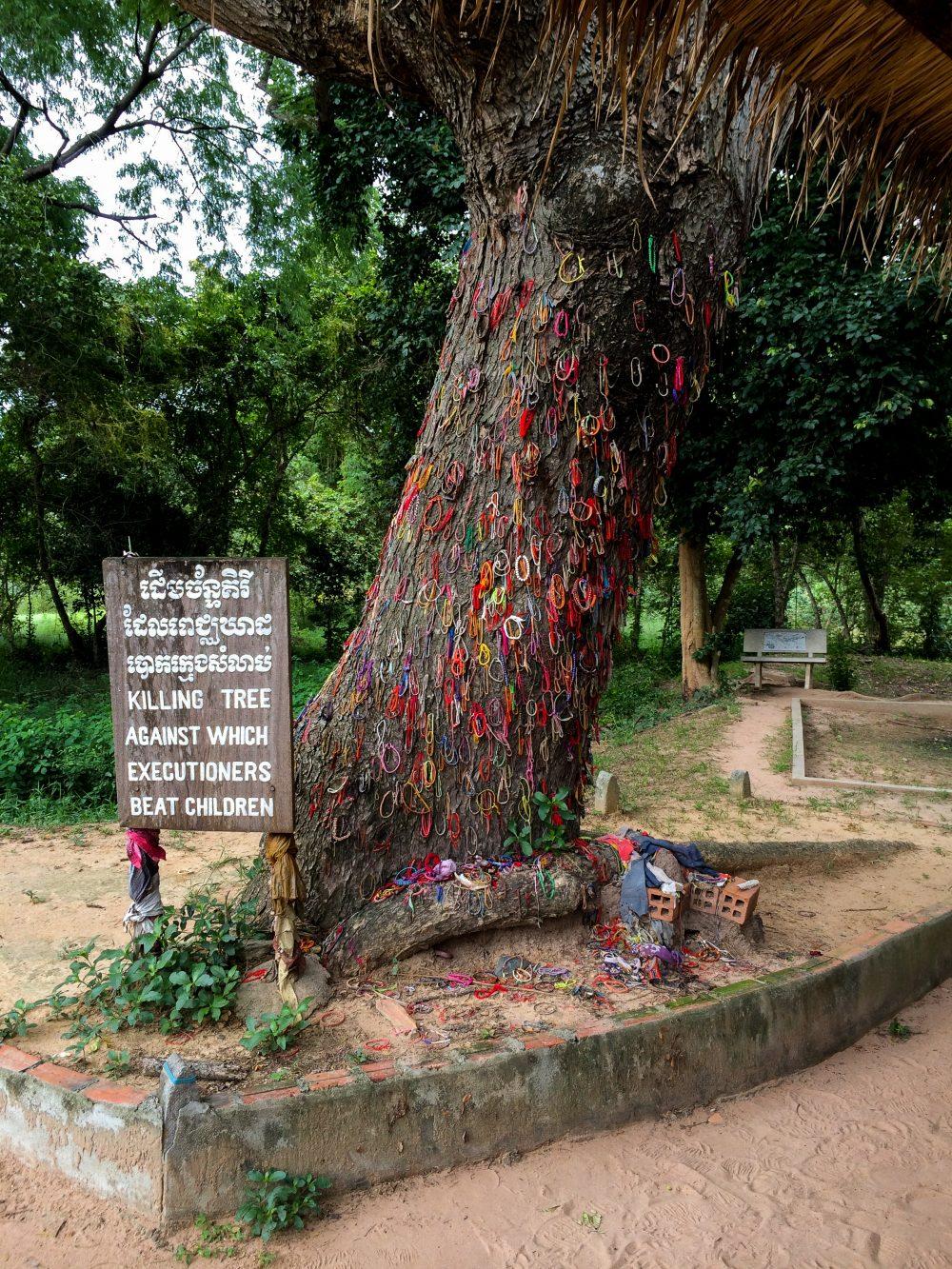 The Killing Tree at Choeung Ek Killing Fields