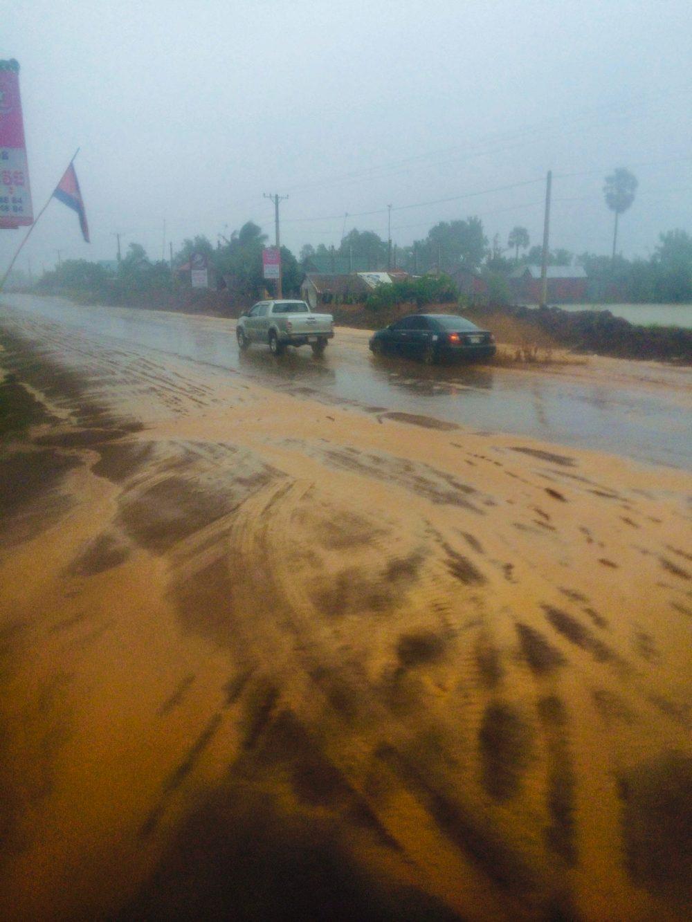 Heavy rain in Cambodia
