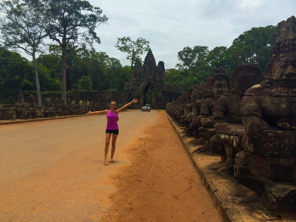 Exploring the temples in Cambodia