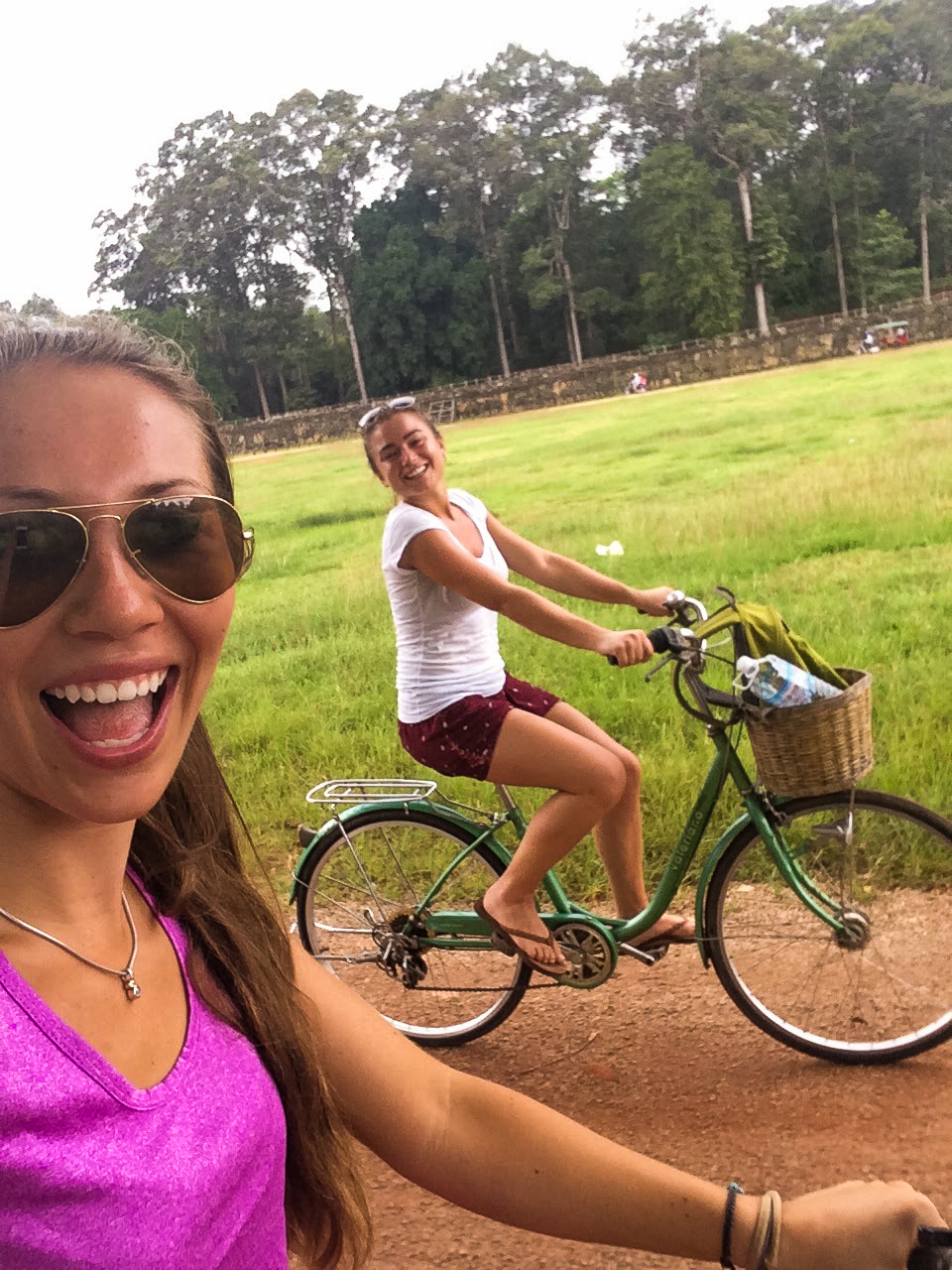 Cycling around SIem Reap in Cambodia