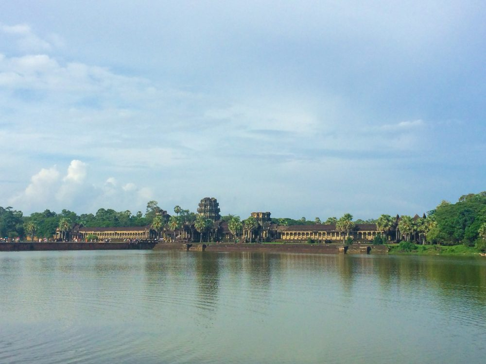 Some of the Angkor Wat complex from afar