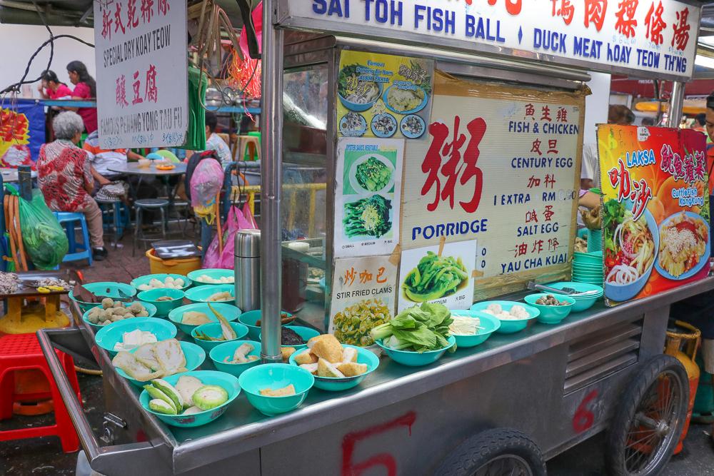 Street food in George Town, Penang, Malaysia