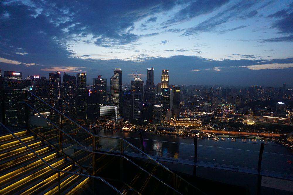 Marina Bay Sands rooftop at night