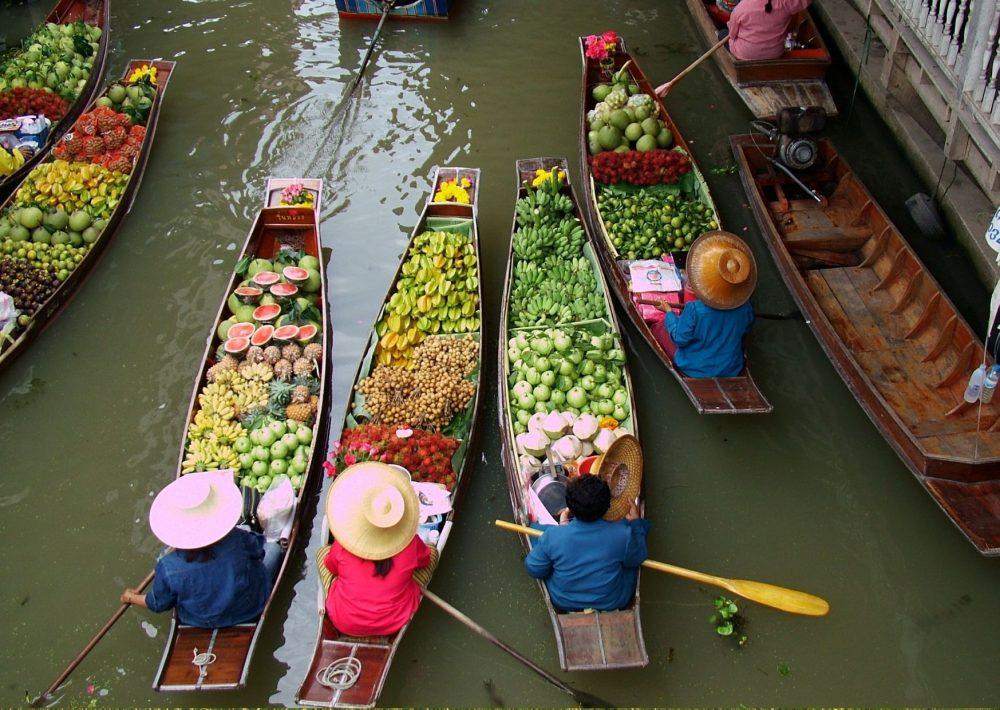 Floating market near Bangkok