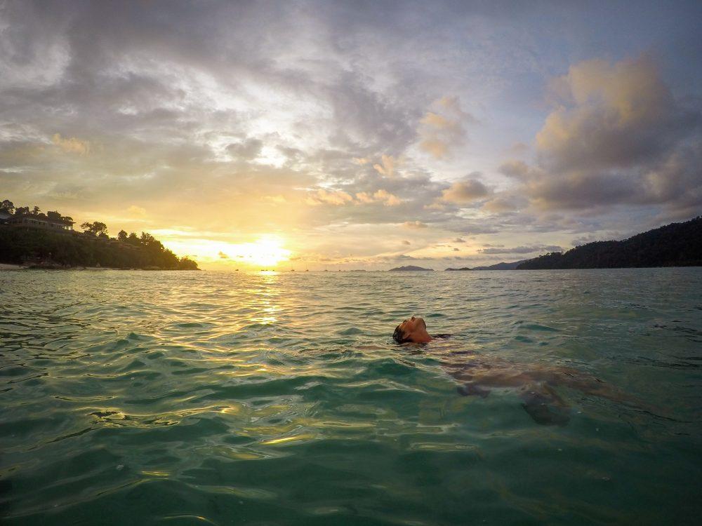 Swimming in the sea at Koh Lipe