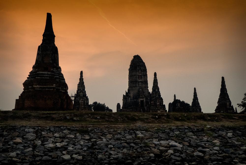 Wat Chai Watthanaram at sunset
