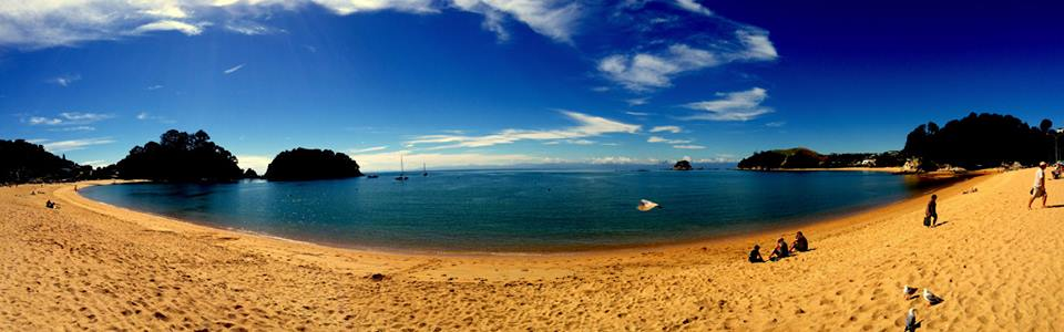 The stunning Kaiteriteri Beach on South Island