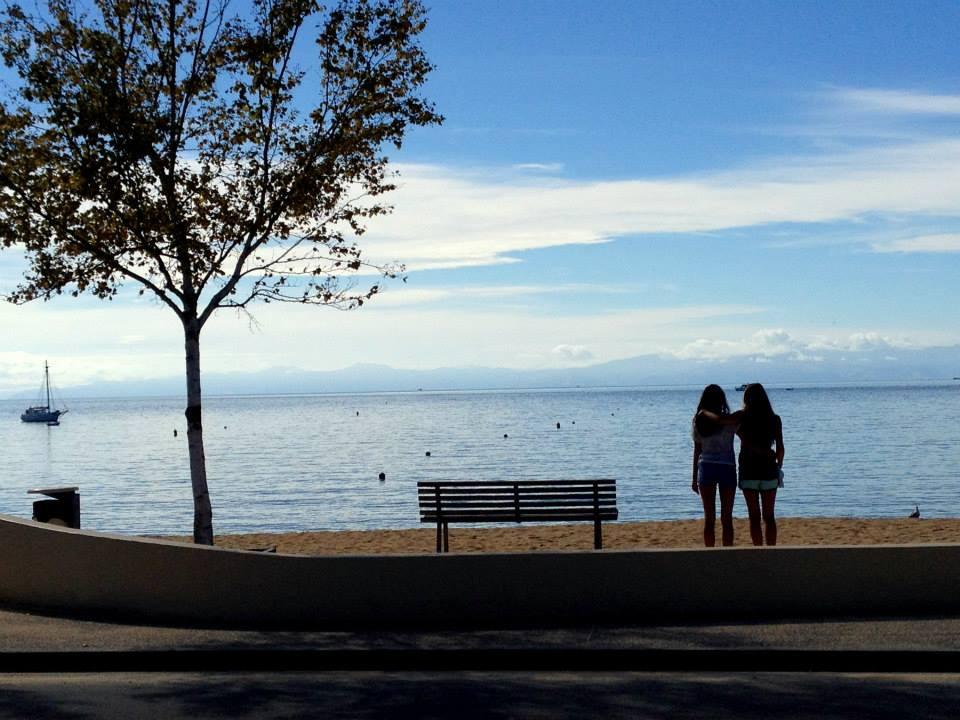 Appreciating the views at Kaiteriteri Beach