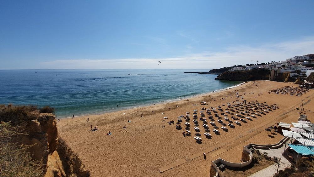 The beautiful main beach at Albufeira
