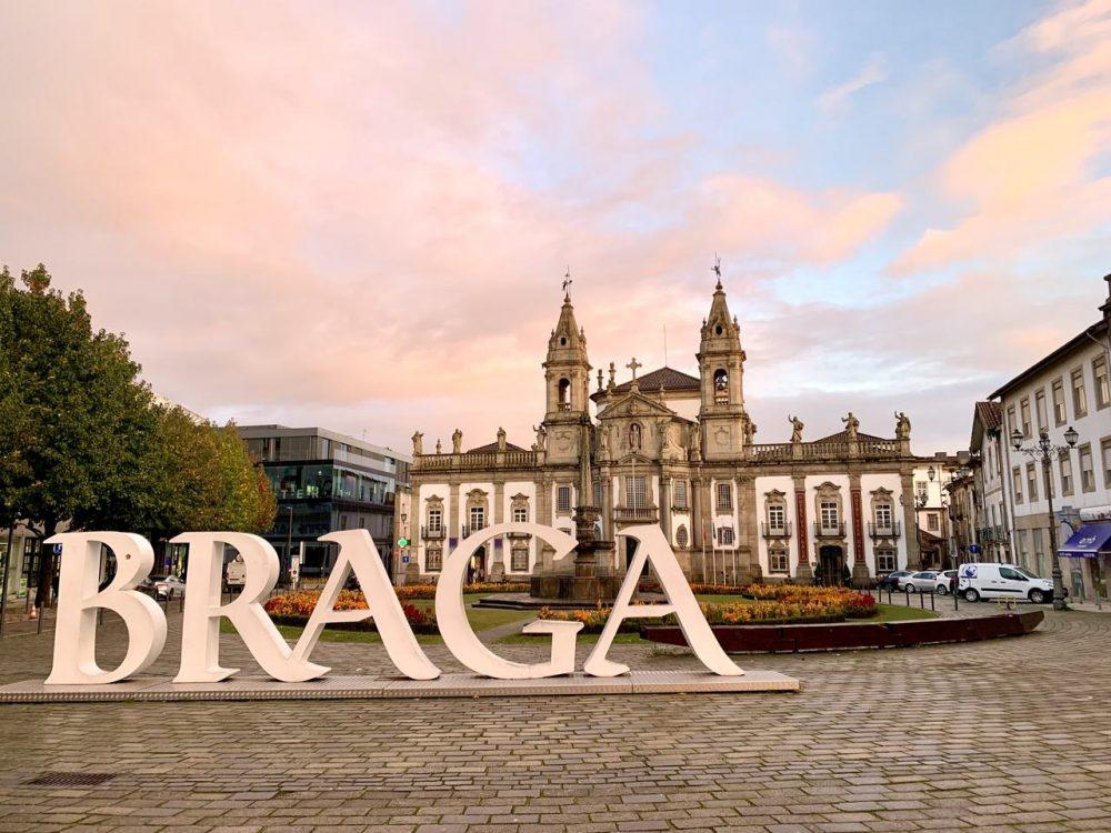 The historical city of Braga, Portugal