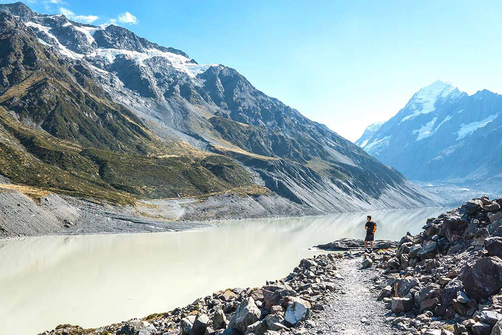 Epic scenery at Mount Cook, New Zealand