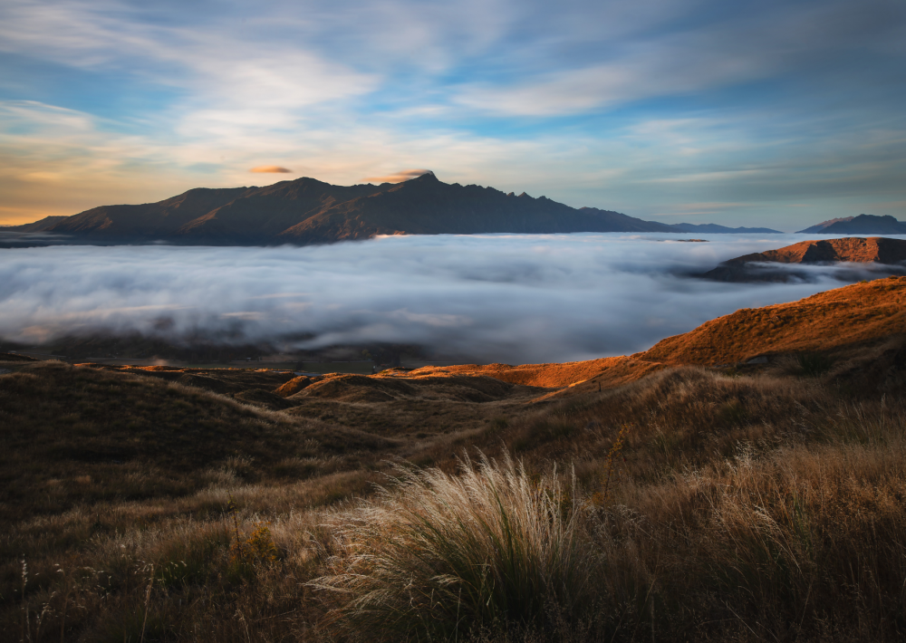 Coronet Peak views during the summer months on South Island
