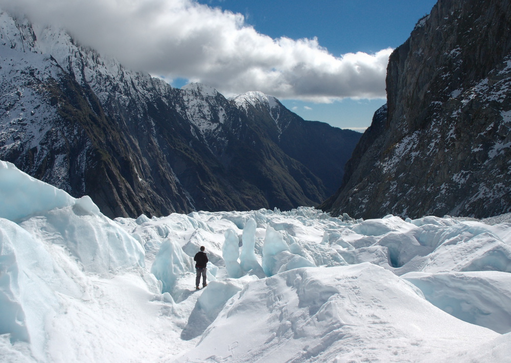 Trekking in the Franz Josef Glacier
