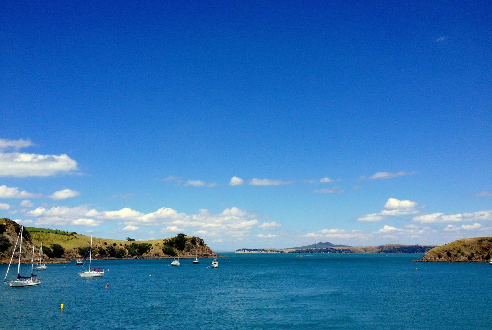 Pretty Waiheke Island near Auckland