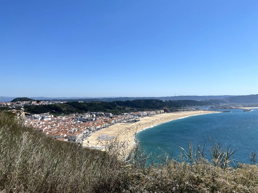 Soak up the rays at the stunning Praia de Nazare