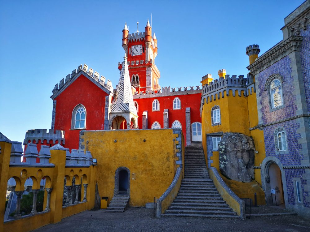 The colourful Pena Palace in Sintra