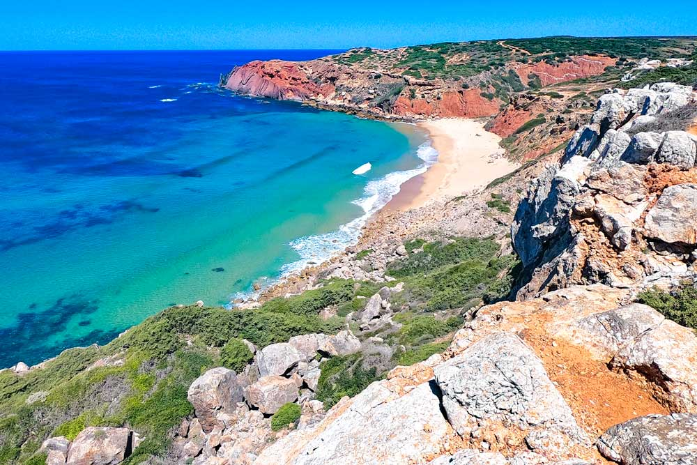 One of the stunning beaches along the Costa Vicentina