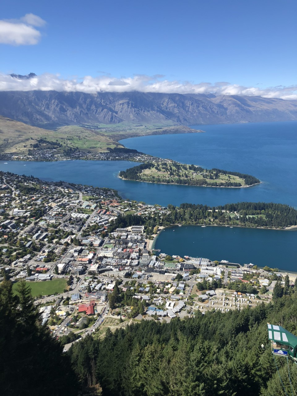 The view from Bob's Peak in Queenstown
