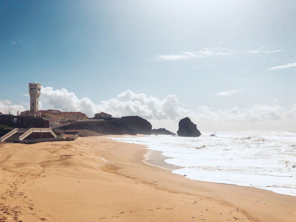 The tiny surf town of Santa Cruz in Portugal