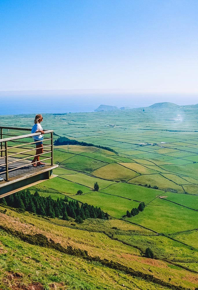 The viewpoint at Terceira