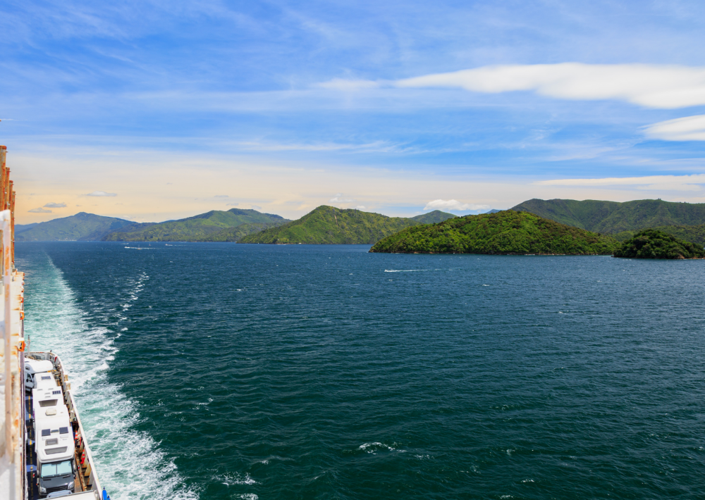 Departing from Wellington on the Interisland ferry