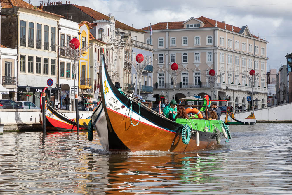 The canals of Aveiro in Portugal
